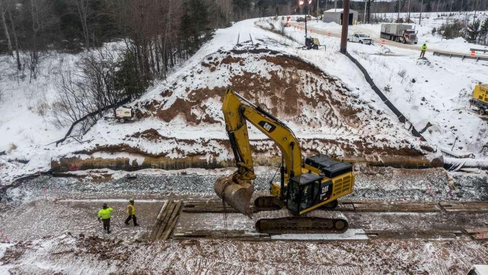 MI Mine Railroad Drainage Drone Jan 2021 11