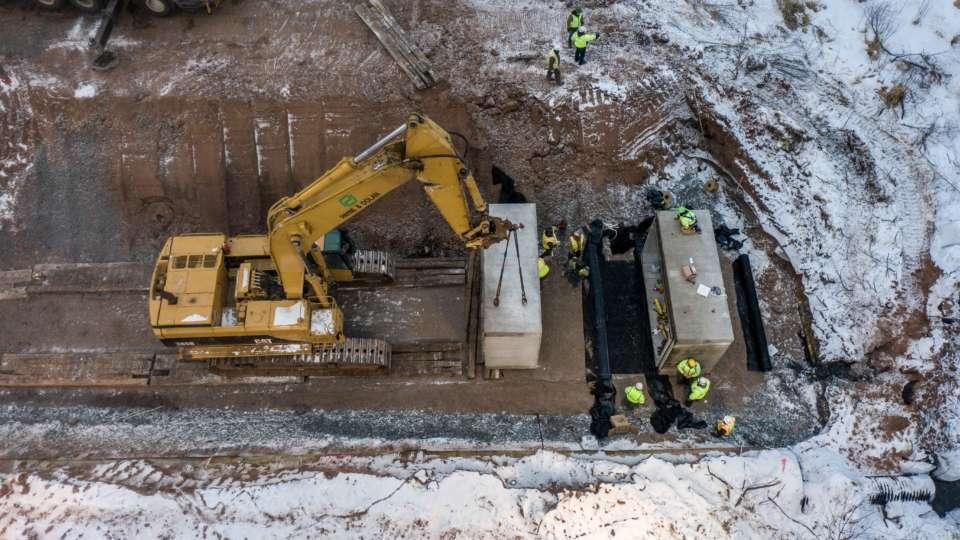 MI Mine Railroad Drainage Drone Jan 2021 21