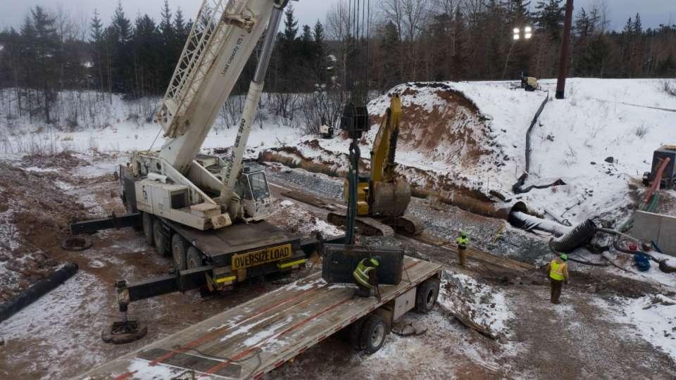 MI Mine Railroad Drainage Drone Jan 2021 7